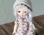 BJD Doll Outfit  / Dress Pants Hat / Ooak Small  BJD Dolls / Hujoo Baby Suve