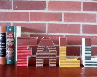 FALL Mini Book Letters - Reader's Digest Book Monogram Letters FALL - Fall  Decoration - Autumn Gift - Book Lover's Gift - Home Decor