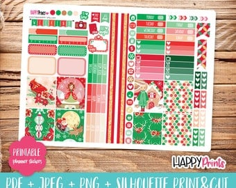 Christmas Printable Planner Stickers.