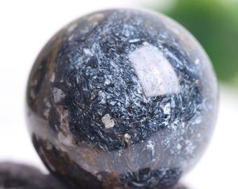 2.1inch Pietersite Carved Crystal Sphere Ball Spiritual Activation Energy 218grams #Q148