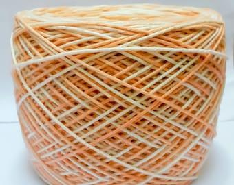 Orange and White Yarn
