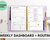 PERSONAL WIDE Size Ring Bound -  Weekly Dashboard + Routine Planner