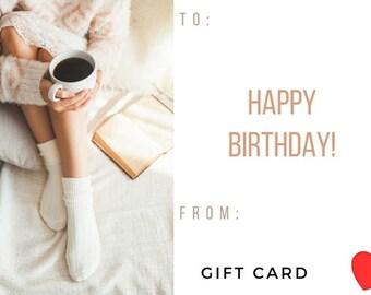 Regalo Compleanno Buono  Gift card  Buoni Regali personalizzati a scelta  Idea regalo per la tua persona dedica per chi è lontano da casa