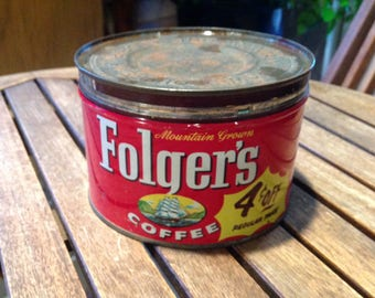Folgers Coffee Tin/Can