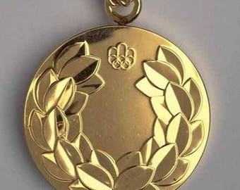 1976 Montreal Olympic 'Gold' Medal with Chain
