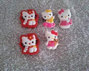 Lot 5 jibbitz Hello kitty (badges for fangs)