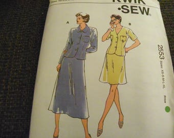 Vintage Sewing Pattern - Kwik Sew 2553 - Misses' Skirt & Top - Size XS - S - M - L - XL