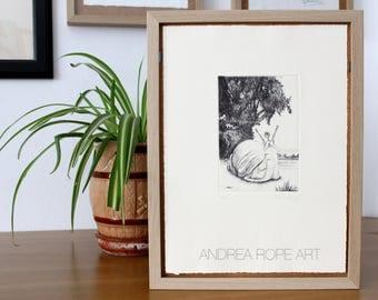 "Original Prints ""Caracol"". Handmade printmaking. Dry point/SuperAlfa 240gr."