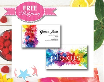 Plexus Water Color Design with Photo or Logo | Plexus Business Cards | Digital or Print |  sku569