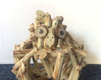 Owl wood sculpture