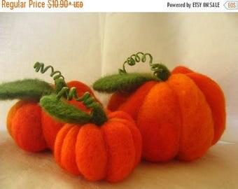 Felt Pumpkin Decor, Fall Decor, Thanksgiving Decor, Halloween Pumpkin, Felted Pumpkin, Felt Pumpkins, Large Pumpkins Decor, Orange Pumpkins
