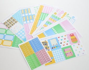 Back To School Weekly Planner Sticker Kit and Washi