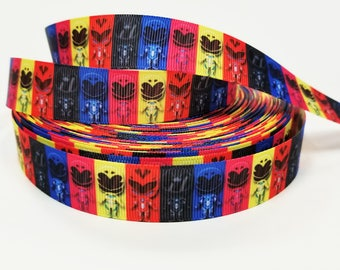 "7/8 "" inch Super Hero  - Printed Grosgrain Ribbon for 7/8 inch  Hair Bow"
