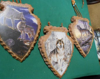 Bradford Exchange 3 Wall Plaques-Spirit of the Pack