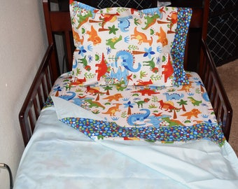 Crib/Toddler Sheet Set - Dinosaurs