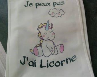 "Shopping bag ""I can't I Unicorn"""
