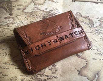 Game of thrones Handmade leather card case wallet