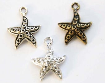starfish pendant charm mothers day girlfriend handmade fashion animal jewelry making cute cool unique necklace bracelet anklet AC174