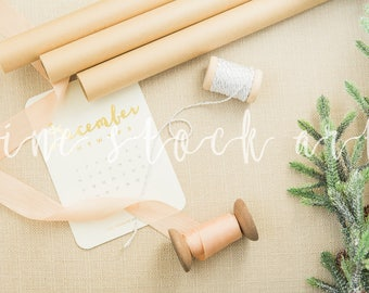Neutral Styled Holiday Stock | Instant Download | Blog/Social Christmas Stock Image