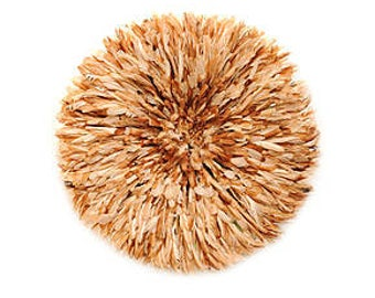"""Large Juju hat mixed feathers natural clear 80 cm / 31 """""""