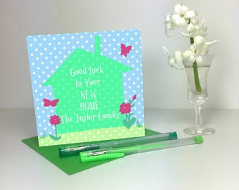 New Home Card-Butterflies & Flowers - GC031