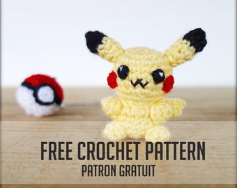 FREE CROCHET PATTERN-- Pikachu and his pokeball
