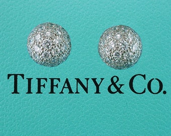 Tiffany & Co. 2.00ct tw G-VS1 Diamond Etoile Platinum Cufflinks