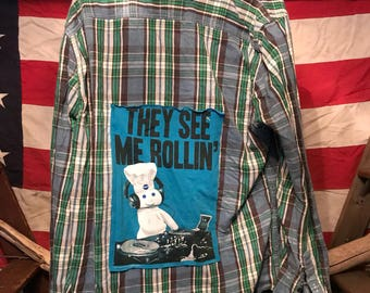 They See Me Rollin Upcycled Flannel