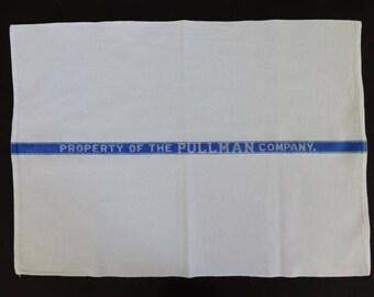 "Vintage 16"" x 23"" Property of the Pullman Company Towel Railroad Train"