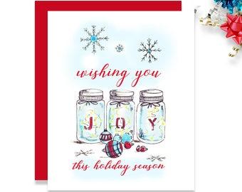 Mason Jar Card - Joy Jars - Mason Jar - HC 017- JJ