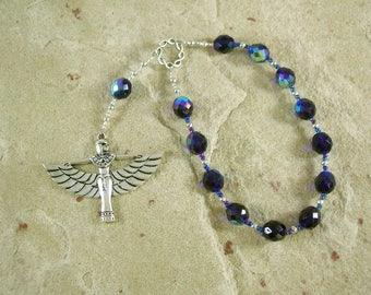 Isis (Aset) Pocket Prayer Beads: Egyptian Goddess of Magic, Wisdom, Motherhood