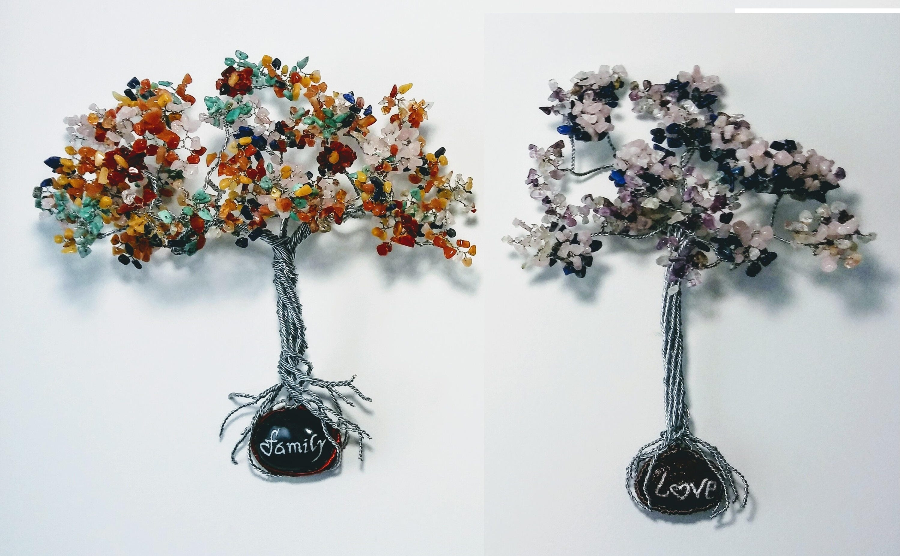 Jewelry Family colorfull wire wall trees with family and loveon sea ...
