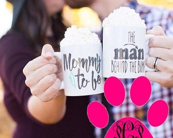 Mommy to Be, Daddy to Be, Mom Dad Mug Set, New Parents Gift, Mom to Be, Dad to Be, Pregnancy Gifts, Coffee Mugs, His and Hers, Mug Set