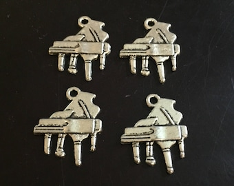 4 PC Piano Charms-Classical Music Charms-Music Charms