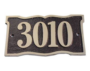 Majestic MFG Brass Prairie Dupont Address Plaques House Numbers ** Made in the USA ** ** Free Shipping**