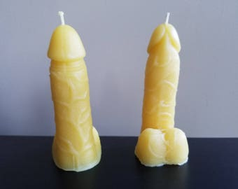 Beeswax Penis Candle