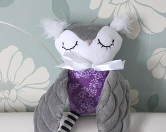 GREY HORNED OWL - Children's Plush Owl