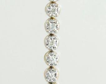 Designer Estate 14K Gold 1.00ct Genuine Diamond Tennis Bracelet 14.1g