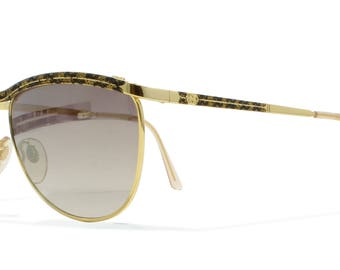 Gucci 2220 01L Gold Vintage Sunglasses CatEye For Men