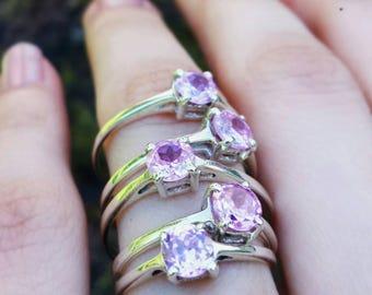 ANGEL TEAR  pink zirconia ring