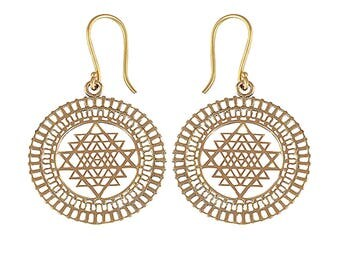 OSIRIS bohemian brass earrings