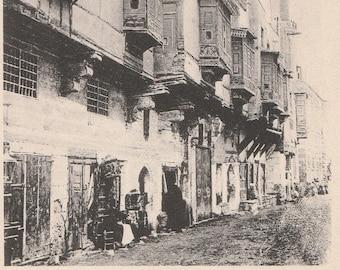 FREE POST - Old Postcard - EGYPT Street in Old Cairo - Vintage Postcard - Unused
