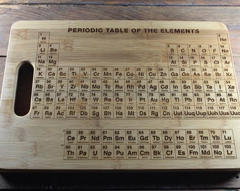 Personalized Cutting Board, Periodic Table Cutting Board, Engraved Gifts, Periodic Table Decor, Science Gift, Science Decor, Chemistry Gift