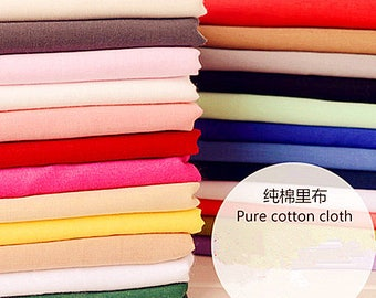 Solid Cotton Fabric,Soft Pure Cotton Lining Fabric for Dress Cloth Curtain Quiltting Upholstery 1/2 yard f311
