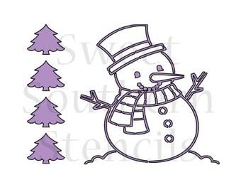 Snowman PYO Cookie Stencil