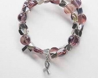 Amethyst coin bracelet