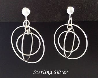 Stunning Clip On Earrings: Fashionable 925 Sterling Silver Clip-On Earrings | Silver Earrings, ClipOn Earrings, Gifts for Women, Gift, 415