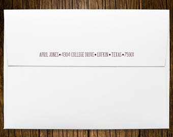Texas A&M University DVM Graduation Announcements Return Address Printed On Envelopes
