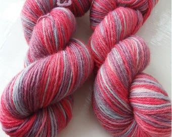 Raspberry twist. 100g  of gorgeous squishy 4ply sock yarn