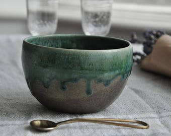 New Grey Green Serving Bowl